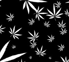 White Marijuana Leaves Sticker