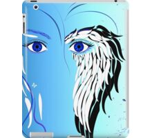 Beauty woman's face, wings and butterflies iPad Case/Skin