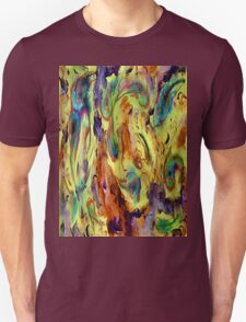 Whirling Peacock Feathers Unisex T-Shirt