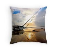 Stranded in Santa Barbara Throw Pillow