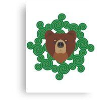 Celtic spiral Bear Canvas Print