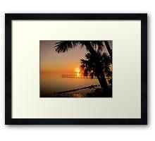 Sunrise in Florida Framed Print