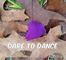 Dare to Dance purple flower petal and autumn leaves by DariArts