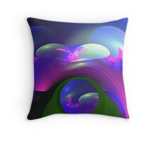 The bubbling bow Throw Pillow