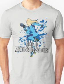 I Main Zero Suit Samus - Super Smash Bros. Unisex T-Shirt
