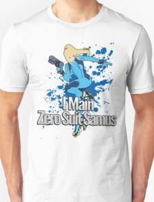 I Main Zero Suit Samus - Super Smash Bros. Unisex T-Shirt