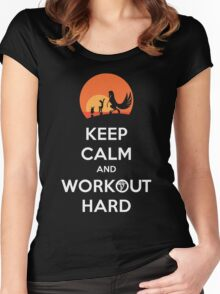 Keep Calm and Workout Hard Women's Fitted Scoop T-Shirt