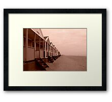empty beach huts Framed Print