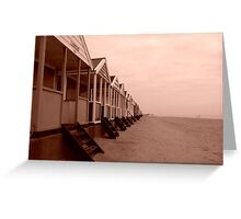 empty beach huts Greeting Card