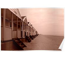 empty beach huts Poster