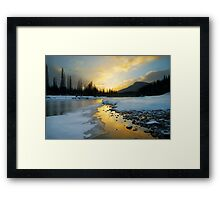 Banff sunrise Framed Print
