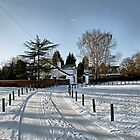 Snow Tracks, Rolleston on Dove by Rod Johnson