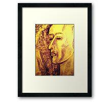 portre pastel Framed Print