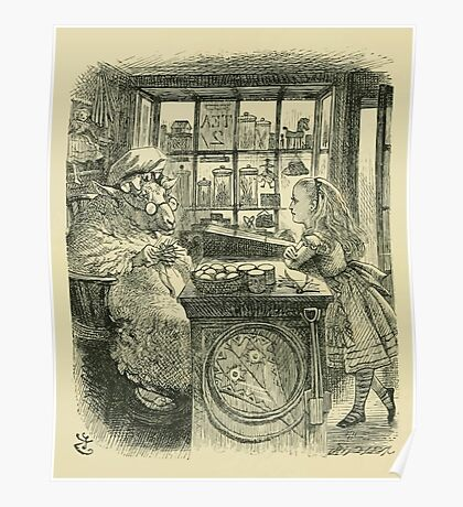 Through the Looking Glass Lewis Carroll art John Tenniel 1872 0122 Old Sheep Poster