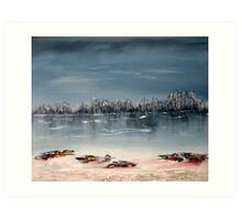 A serene day in winter Art Print