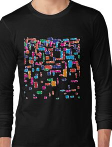 Colorful geometric vector abstraction Long Sleeve T-Shirt