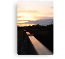 Sunset MK Canvas Print