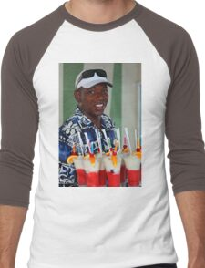 Warm smile and colourful drinks Men's Baseball ¾ T-Shirt
