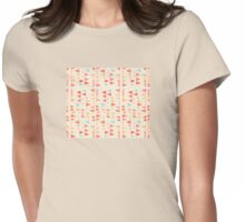 Back & Forth - triangle abstract pattern in peach, aqua & cream Womens Fitted T-Shirt