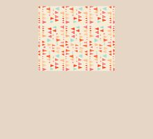 Back & Forth - triangle abstract pattern in peach, aqua & cream T-Shirt