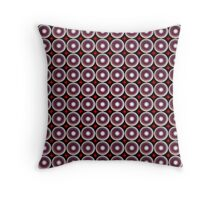 Multicolored abstract circle pattern Throw Pillow