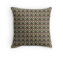 Modern abstract circle pattern Throw Pillow