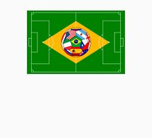 football field and ball with flags Unisex T-Shirt