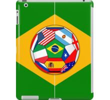 football field and ball with flags iPad Case/Skin