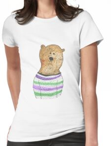 Hipster Bear Womens Fitted T-Shirt