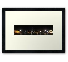 Hősök Tere by night (panoramic view) Framed Print