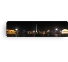 Hősök Tere by night (panoramic view) Canvas Print