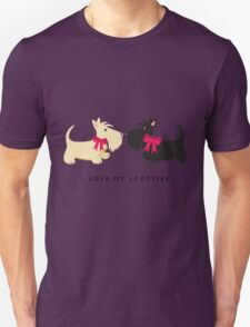 I Love My Scotties Unisex T-Shirt
