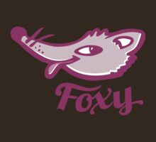 Foxy purple pink graphic art by Sarah Trett