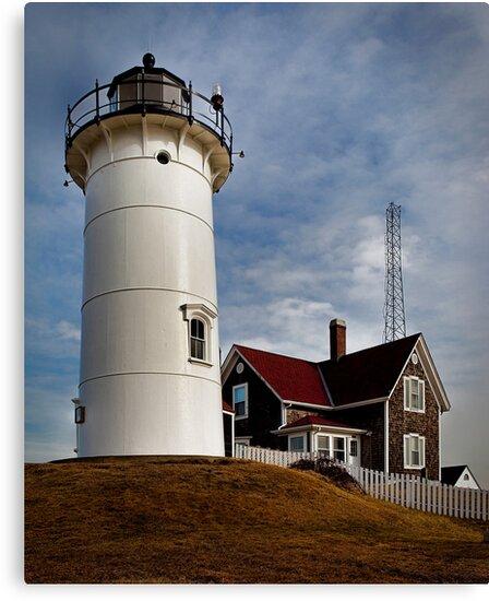 Woods Hole Point Light, Falmouth, Massachusetts, USA by Nancy Bray