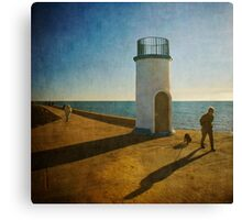 Jetty Shadows Canvas Print