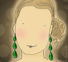 Girl with Emerald Earrings by Victoria Ellis