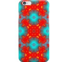 red and blue trendy pattern iPhone Case/Skin