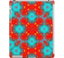 red and blue trendy pattern iPad Case/Skin