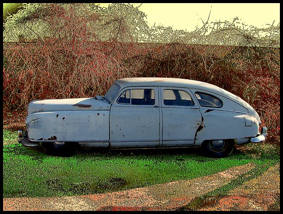 """Upside Down Bath Tub"" 1950 Nash Rambler Ambassordor Super Four Door Sedan by TeeMack"