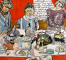 Sketching Dinner Party by Evelyn Bach