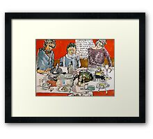 Sketching Dinner Party Framed Print