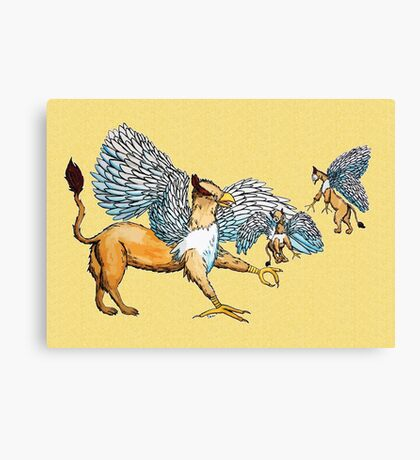 Griffins Family Canvas Print