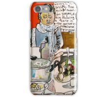Sketching Dinner Party iPhone Case/Skin