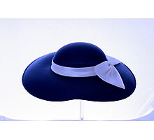 LADY'S WHITE BOW HAT Photographic Print
