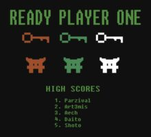 Ready Player One 8-Bit Game High Five by XxDaVinci