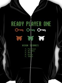 Ready Player One 8-Bit Game High Five T-Shirt