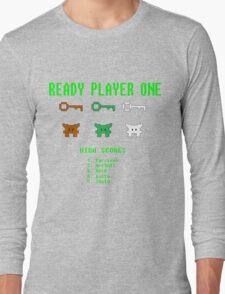 Ready Player One 8-Bit Game High Five Long Sleeve T-Shirt