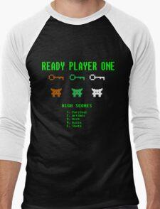 Ready Player One 8-Bit Game High Five Men's Baseball ¾ T-Shirt