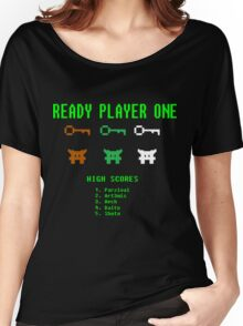 Ready Player One 8-Bit Game High Five Women's Relaxed Fit T-Shirt