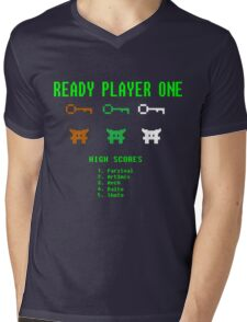 Ready Player One 8-Bit Game High Five Mens V-Neck T-Shirt